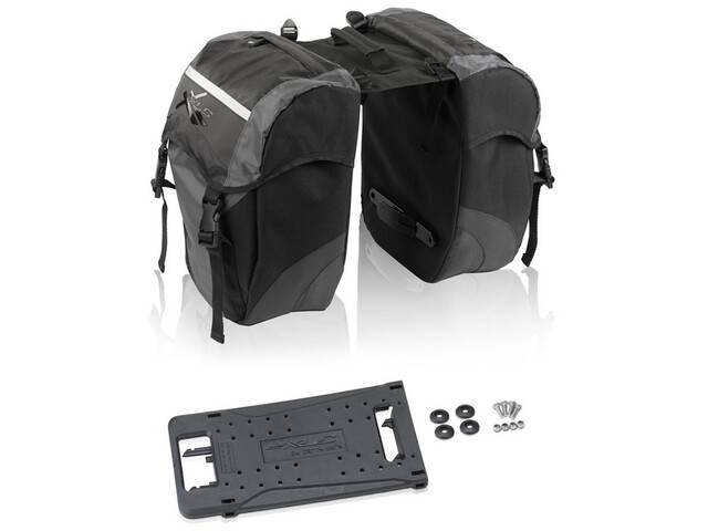 XLC Carry More Alforja Doble 30l incl. Adaptador, black/anthracite